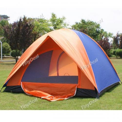 Nylon 3 Persons 7.9mm Fiberglass Pole Double Breathability Anti-Insect Rain-Proof Tents for Camping QCH-219629